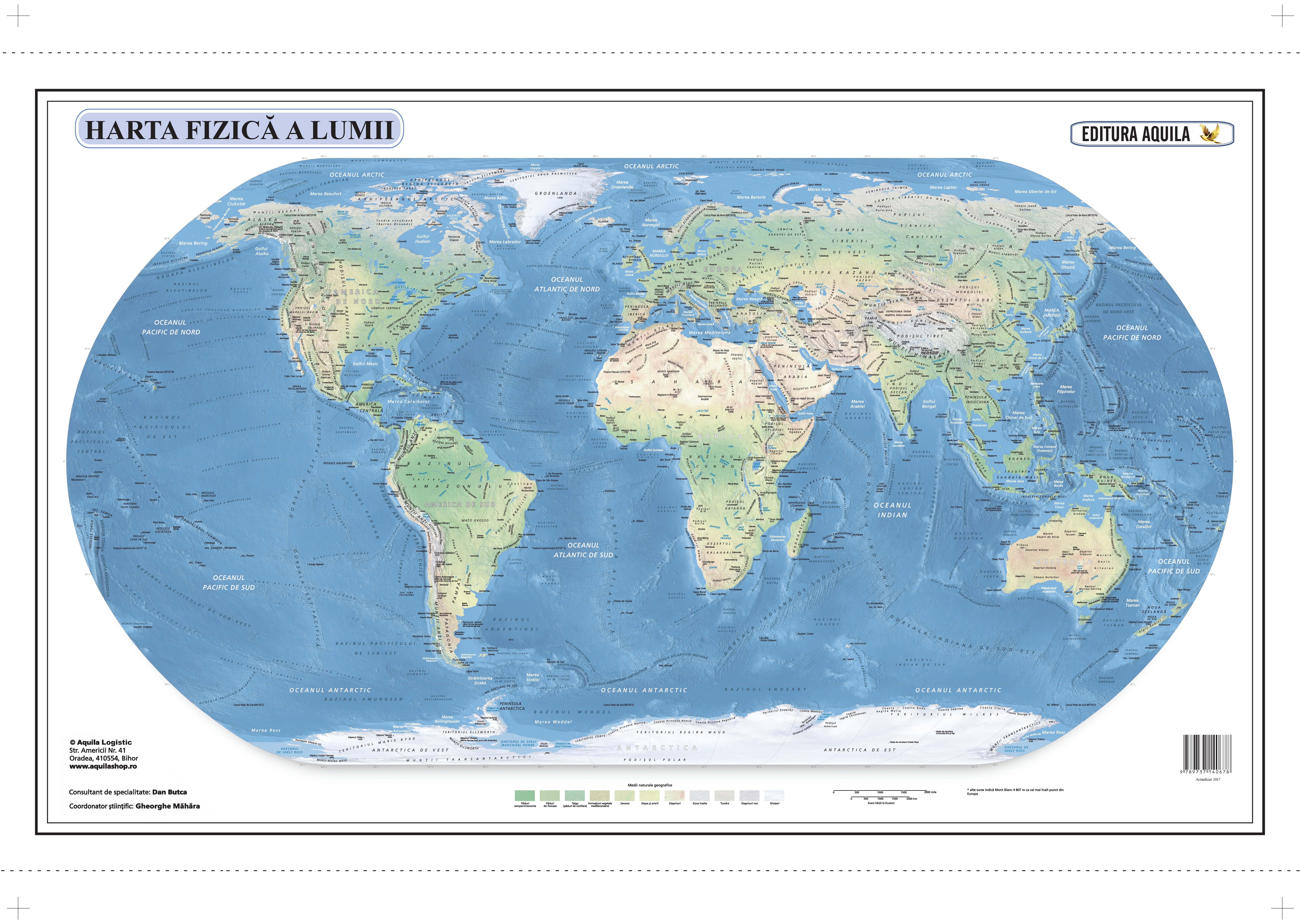 Harta Lumii 50x70