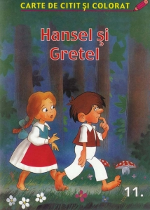 Hansel si Gretel - carte de colorat - 1